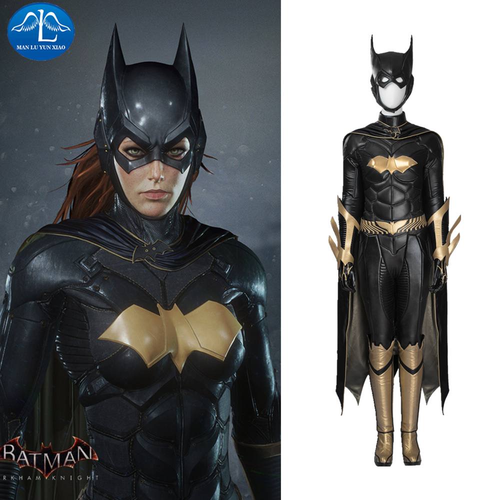 ManLuYunXiao Comics Batgirl Cosplay Batman Arkham Knight Full Suit Superhero Outfit Halloween Costumes For Women Custom Made