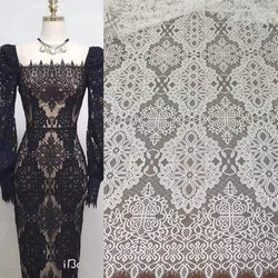 150CM Wide Meter Long Quality French Lace Fabric Off White Nigerian African Wedding Party Evening Party Gown Dress Fabric