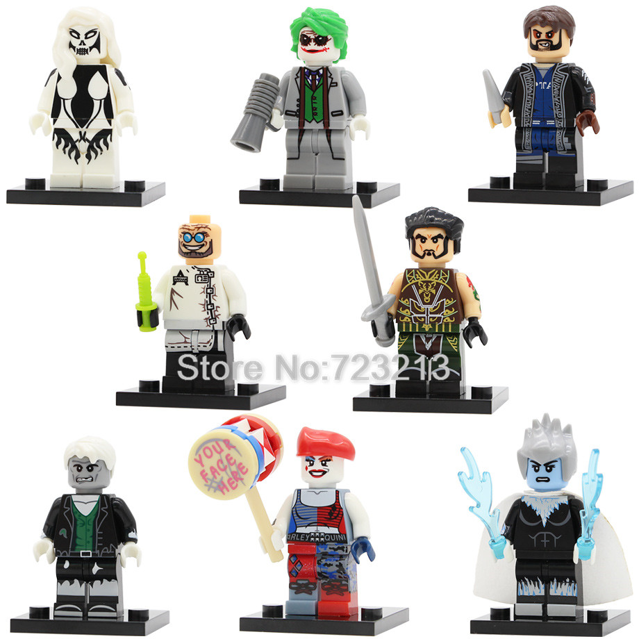Super Hero Ra's Al Ghul Silver Banshee Figure Killer Frost Har Quinn Solomon Grundy Dr Hugo Strange Building Blocks Toys Legoing