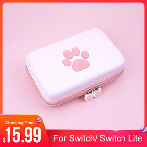 Storage-Bag Switch Hard-Shell Carrying-Case Lite-Games Nintendo Cute Paw for Travel Portable