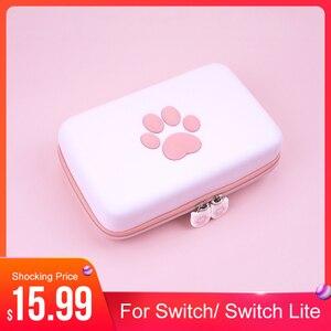 Image 1 - Nette Pfote für Schalter Reise Durchführung Fall für Nintendo Schalter Lite Spiele Hard Shell Portable Storage Tasche