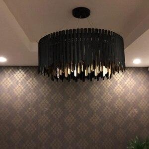 Image 2 - Нержавеющая Сталь современная люстра светодиодный светильник приостановление на дистанционном управлении, столовая гостиная лампа