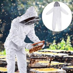 Full Body Protection Beekeeping Suit Cotton Beekeeper Costume Safty  Veil Hood Hat Clothes Suit Beekeepers Bee Suit Equipment