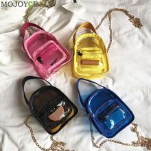 PVC Transparent Clear Woman Crossbody Shoulder Messenger Bags Jelly Small Chain