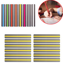 8/10 Pcs Transparent Reading Guide Strip School Supplies Highlighter Colored Overlays Plastic Bookmark For Dyslexia People