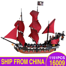 The Pirates Caribbean LegoEDS Movie 16009 Queen Annes Reveage Ship Model Kit Educational Building Blocks Bricks Kids Toys Gifts
