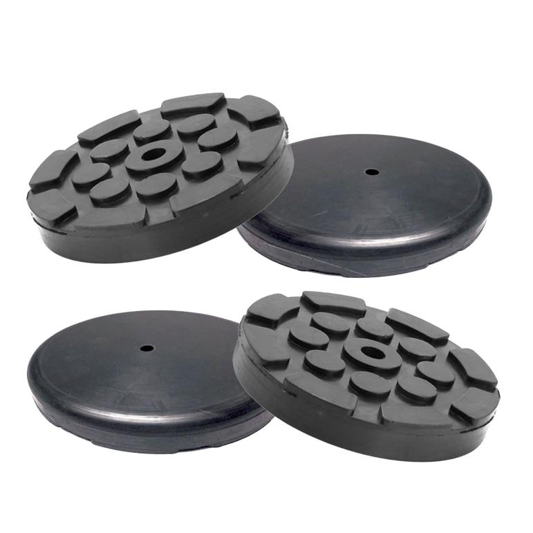 4 Pcs Round Black Rubber Round Shape Thick /& Durable Arm Pads For Auto Car Lift