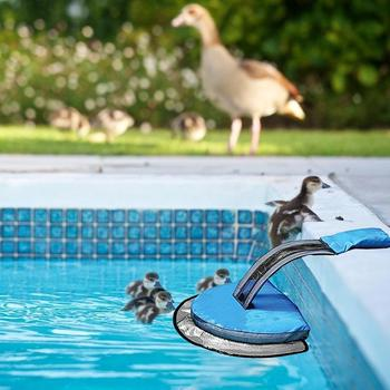 Swimming Pool Critter Saving Escape Ramp Frog Log Animal Saver Blue Easy set-up