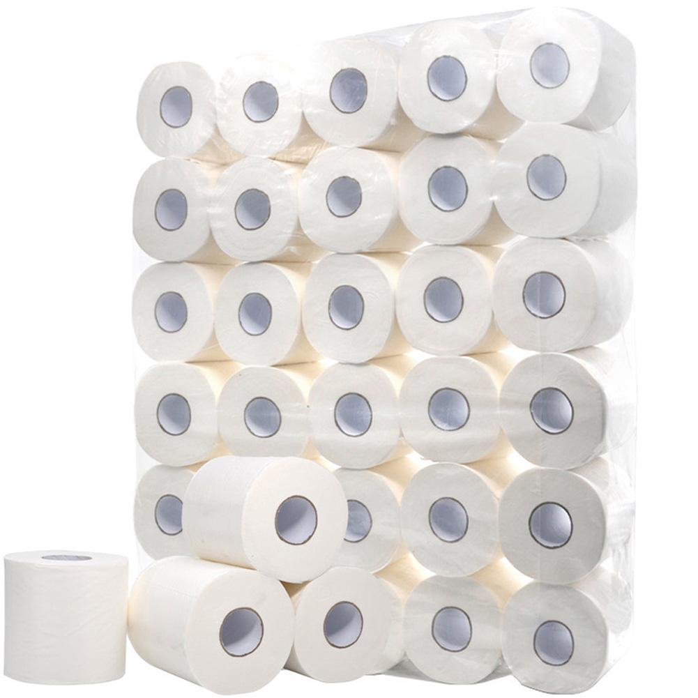Toilet Paper Tissues 3ply White Toilet Tissue Hollow Replacement Roll Paper Clean Clean Protection Soft Toilet Tissue