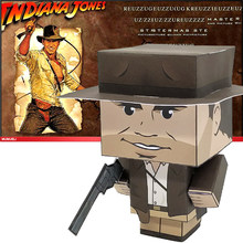 No-glue Indiana Jones Folding Cutting Cute 3D Paper Model Papercraft Movie Figure DIY Cubee for Kids Adult Craft Toys CS-023(China)