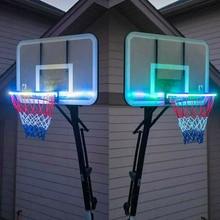 Basketball Rim LED Solar Light Playing At Night Boys Bedroom Home Decor FKU66