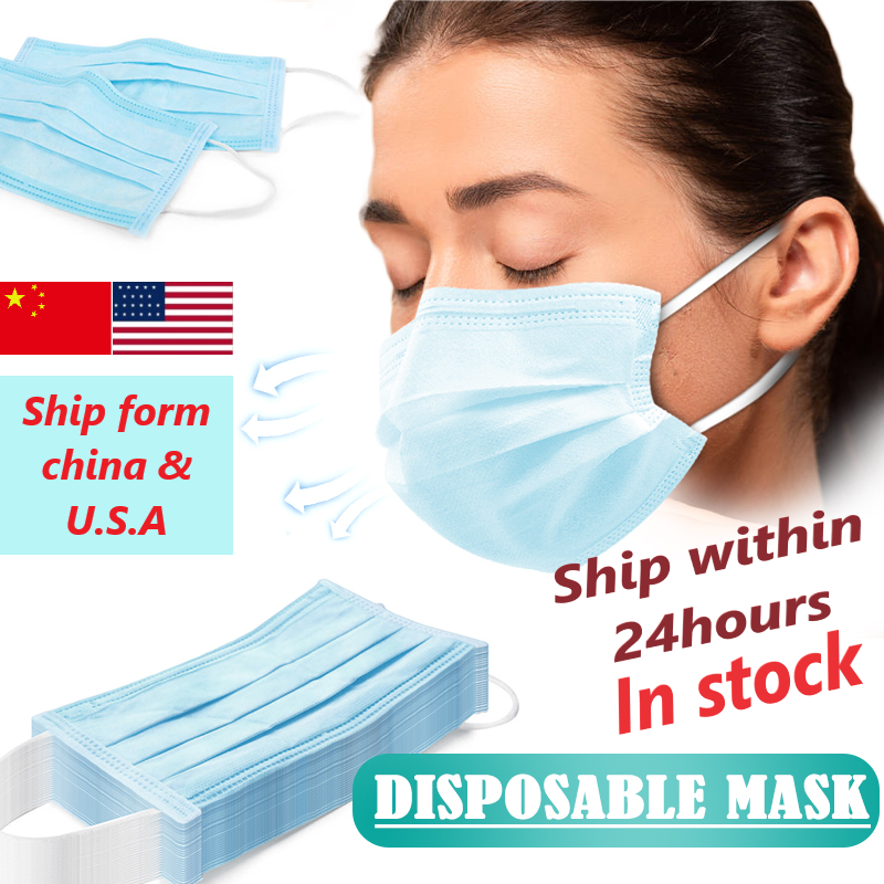 100pcs Disposable Face Masks Dustproof Mouth Mask