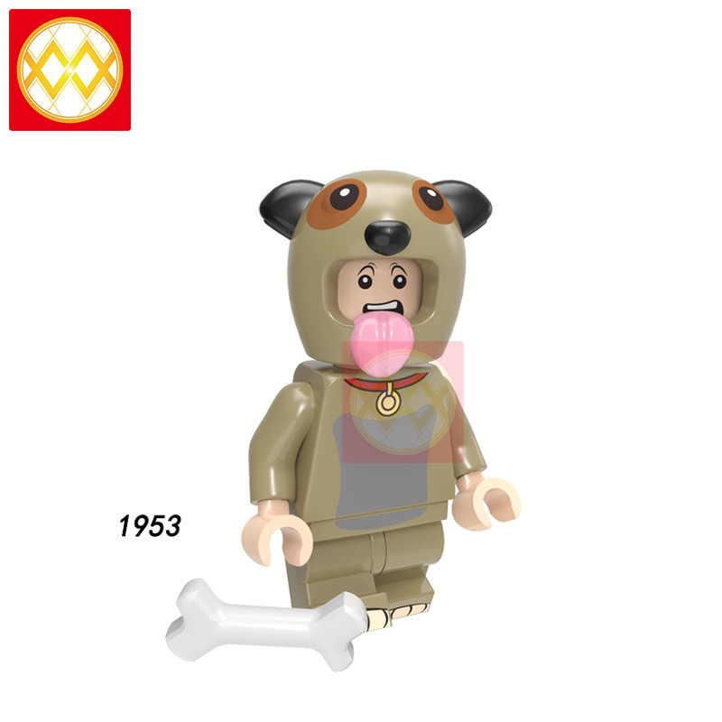 Educación animales de bloques de construcción serie de bombeo Otter Sika dragón ciervo canguro conejo gato juguetes Actio ladrillos para niños PG8223