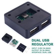 Регулятор трубка высокое качество Напряжение стабилизатор эффективность окружающую среду 5V 3A с 2 портами(стандарт мобильный Питание