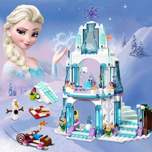 NEW Cinderella Elsa Anna Snow Queen Figures Dress Up Kristoff Sleigh Adventure  41148 Model Building Block Toys Compatible legoingly Girl Friends Princess Xmas Toy Gift For girl