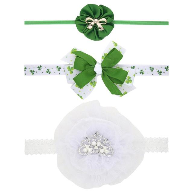 3pcs Saint Patrick's Day Headdress Girl's Party Headdress Party Props (Green) 1
