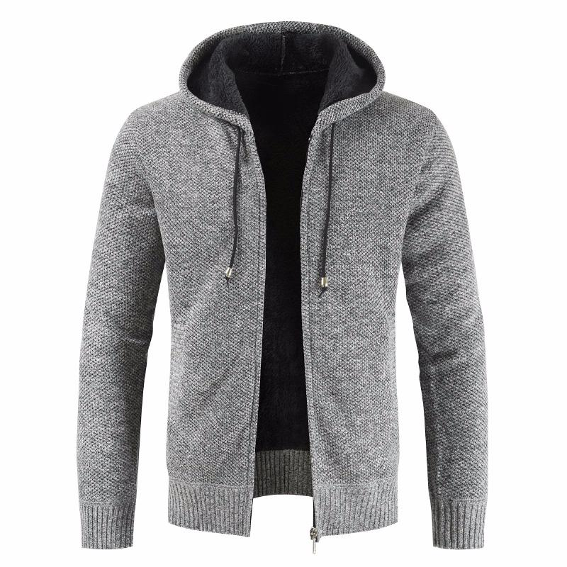 Men New Autumn Brand Thick Casual Cotton Hat Sweater Cardigan Men Winter Fashion Knitwear Outwear Warm Sweater Jumper Coat Men