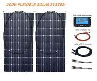 RG 200W Flexible Solar Panel 12V 24v Controller +20A Solar Energy System for Fishing Boat Cabin Camping