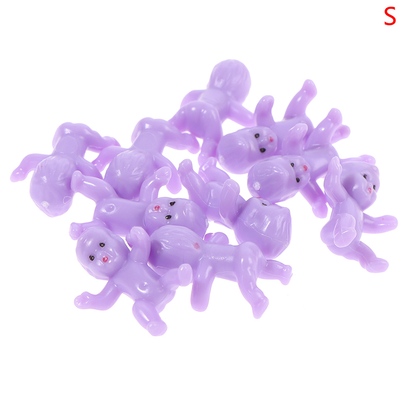 Kids Small Toy Accessories 10 PCS Cute Baby Shower Mini Doll Plastic Child Full Moon Gifts Boys Girls Party Supplies 16