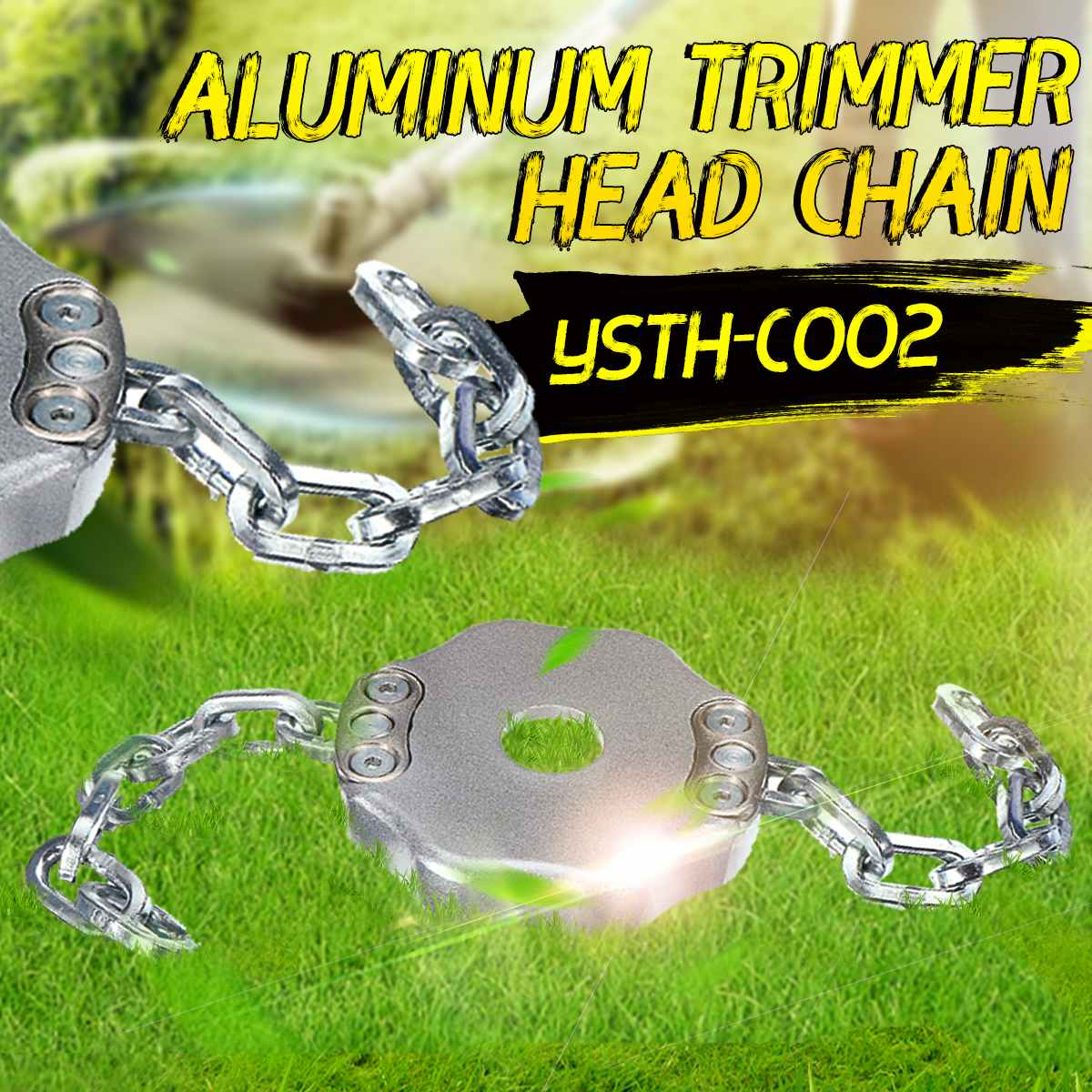 Universal Trimmer Head Aluminum Lawn Mower Parts Outdoor Coil Chain Grass Weeds Cutter Garden Grass Trimmer Tools Replacement