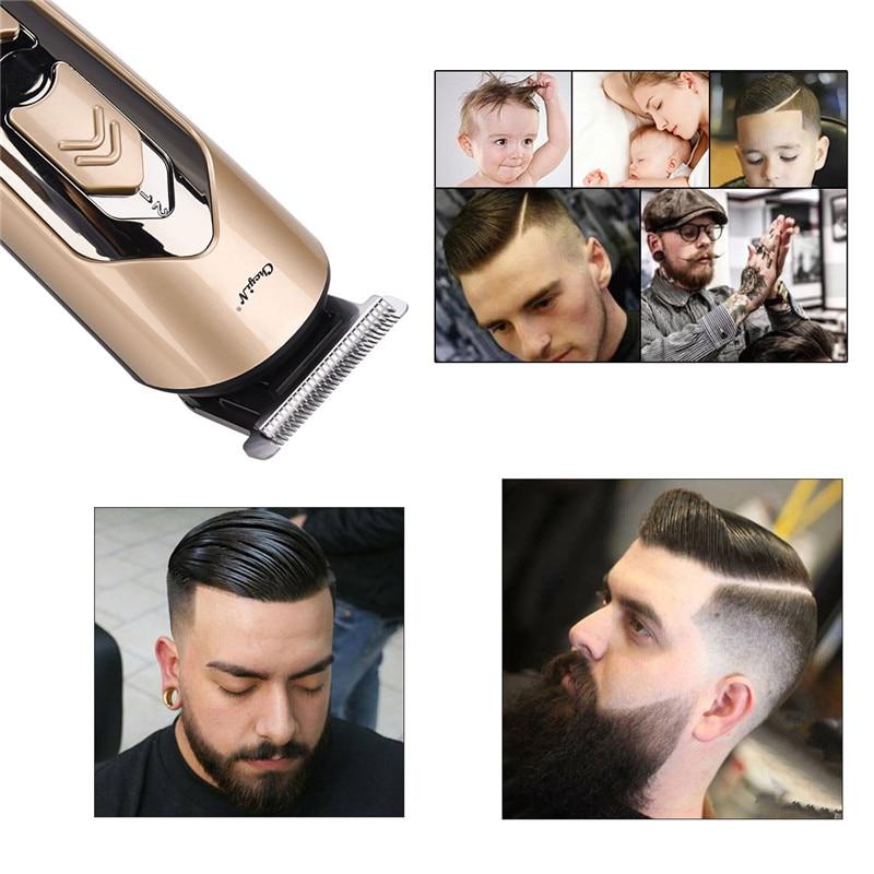 comprimento do cabelo recarregável máquina de corte 42