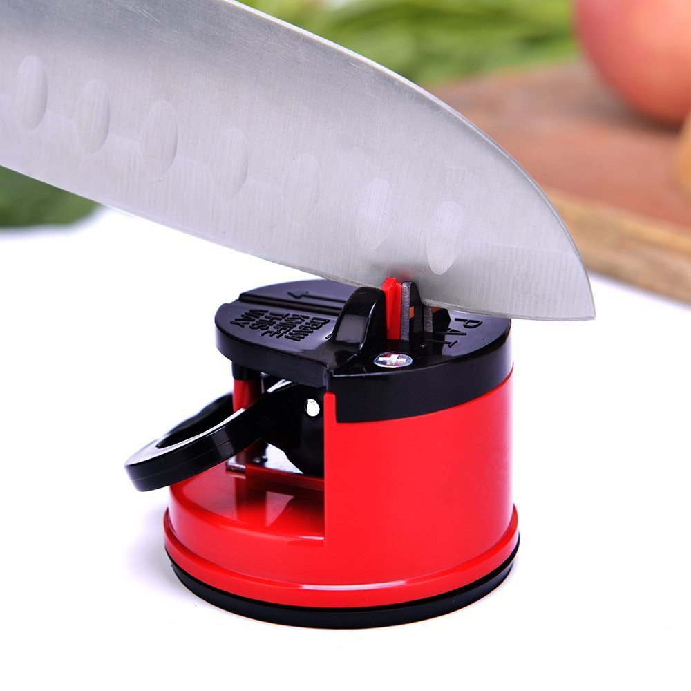 Suction Knife Sharpener Sharpening Tool Easy and Safe to Sharpens Kitchen Chef Knives Damascus Knives Sharpener