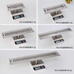 Image 4 - LEDFRE duş drenaj 304 paslanmaz çelik duş zemin uzun lineer drenaj drenaj kanalı için otel banyo mutfak Frool LF66009