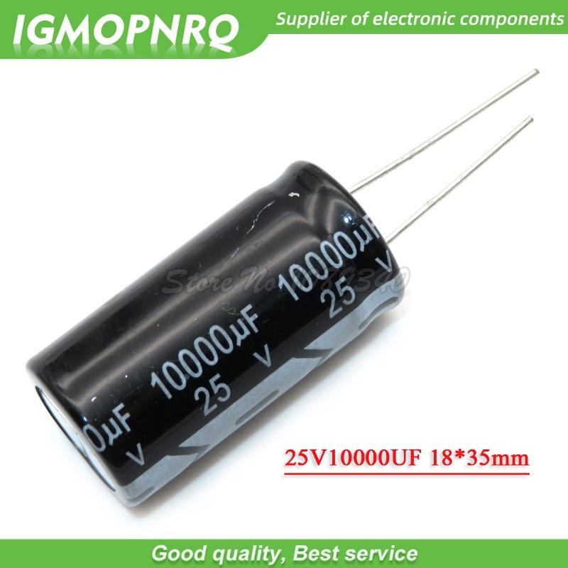 5PCS 25V10000UF 18*35mm 10000UF 25V 18*35 Aluminum Electrolytic Capacitor