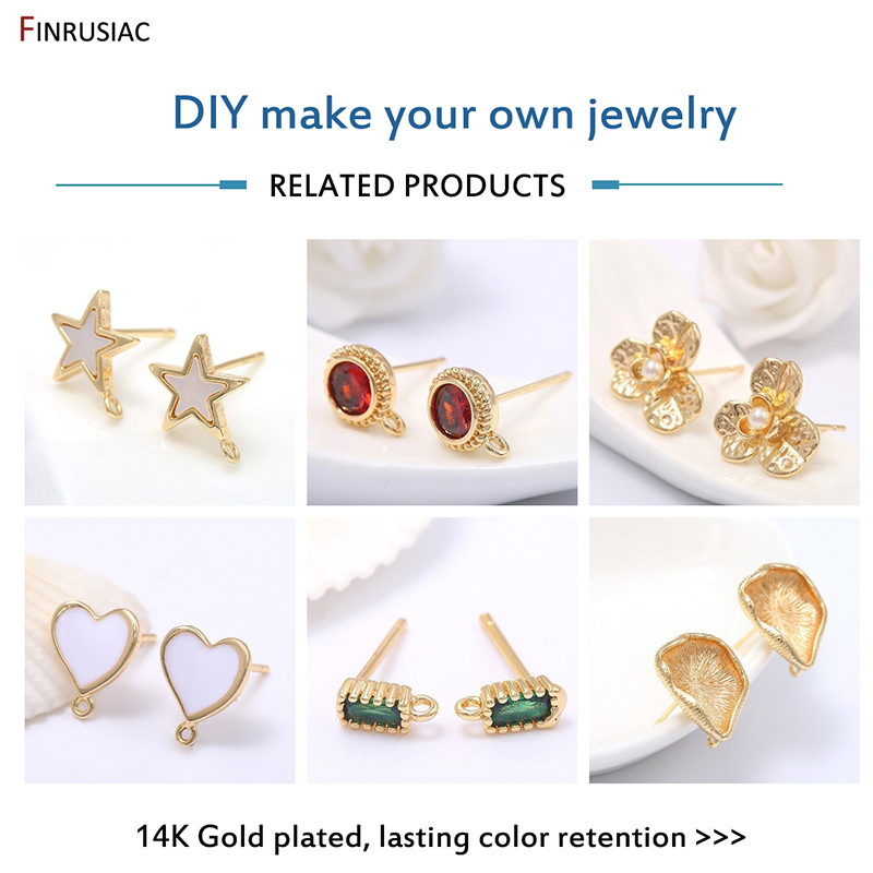 Gold plated stud earrings findings green cubic zirconia stud earrings findings earring findings jewellery making supplies
