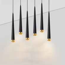 Pendant Lights Cone Long Tube Led Hanging Lamp Kitchen Lighting 7W Dimmable Island dining living room bar cafe droplight fixture