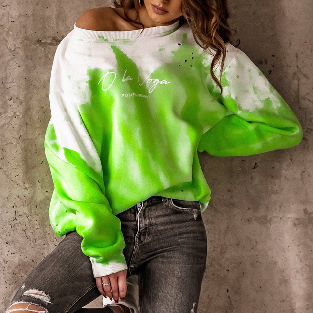 2021 Spring Autumn Women Blouses Shirt Sweatshirts Casual O-Neck Women Tops and Blouse Loose Long Sleeve Print Shirts Pullovers 2