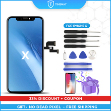 For iPhone X XS XR Display High Quality Tianma OEM Ori with True Tone For 8G 8P LCD 100% Tested LCD Replacement Spare Part
