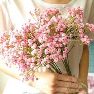 Image 2 - 90 Heads Artificial  Flowers  False Babys Breath Gypsophila Wedding Decoration Birthday DIY Photo Props Flower Heads Branch