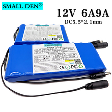 12V 6Ah 9Ah 18650 Portable Rechargeable battery 12.6V lithium ion battery pack for Car Camera CCTV Monitor battery With 10A BMS