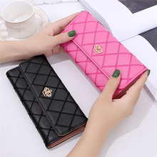 Women Ladies Clutch Leather Wallet Long Card Holder Phone Bag Case Purse Wallets цена 2017
