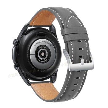 Ремешок для часов кожаный, 20-22 мм 6