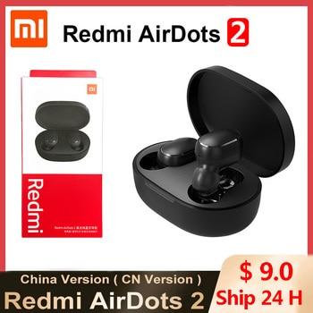 Hot Xiaomi Redmi Airdots 2 TWS Wireless Earphone Bluetooth AI Control Gaming Headset With Mic Original Xiaomi Airdots S Earbuds 1