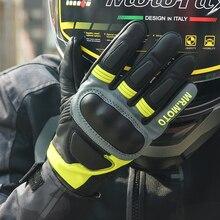 גבוהה באיכות נגע מסך מירוץ מלא אצבע טקטי עור אופנוע כפפות Kevlar חומר הגנת אופנוע כפפות