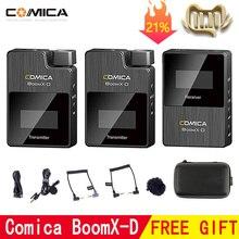 Comica BoomX D ميكروفون لاسلكي عدة الارسال ميكروفون صغير استقبال 2.4G الرقمية ل Fimi plam/Snoppa vmate