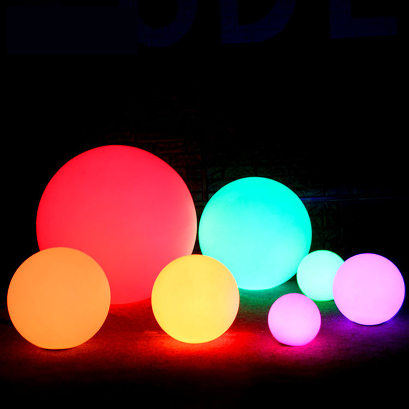 Rechargeable LED Ball Night Light Outdoor Waterproof 16 Color Holiday Light Floating Swimming Pool Bar Table Lamp Remote Control