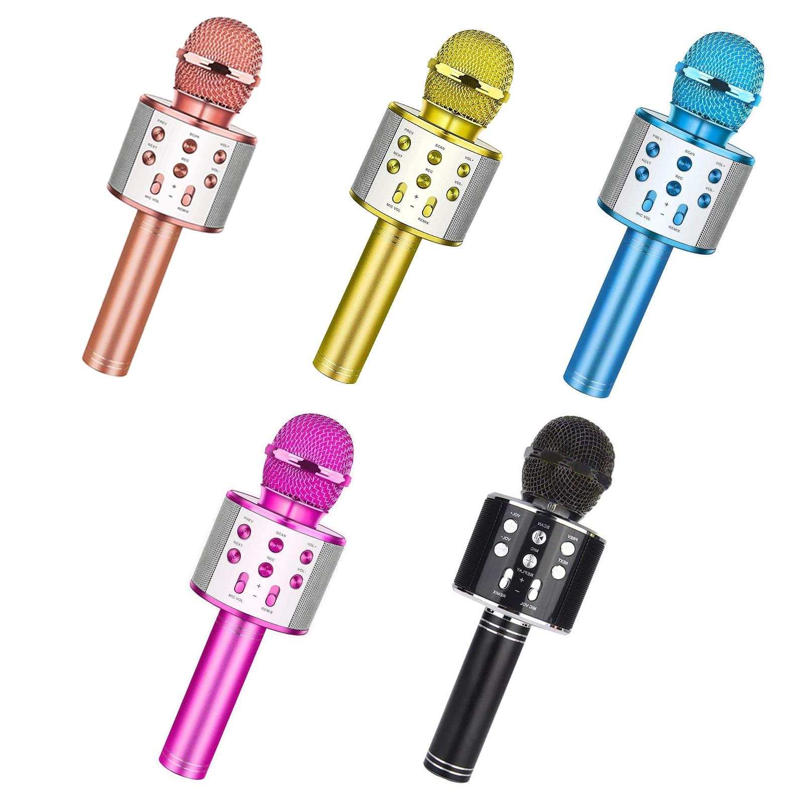 Ws858 portátil bluetooth karaoke microfone sem fio profissional alto falante casa ktv handheld microfone|Microfones|   -