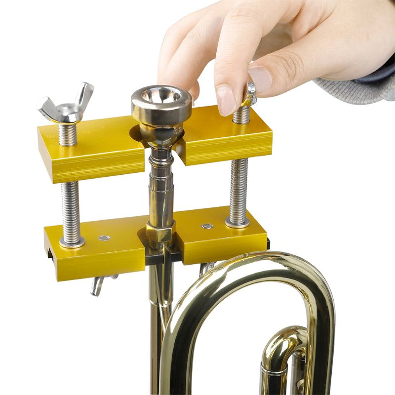 Trombone Brass Instruments Tool Repair Trumpet Threaded Aluminum Accessories Remover Mouthpiece Puller Universal Adjustable Jaws