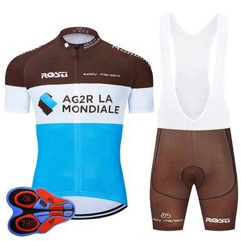 2020 Pro Team AG2R ropa de ciclismo 9D conjunto MTB uniforme Francia...