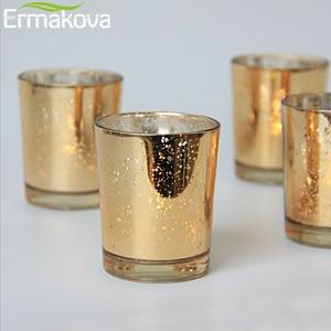 Image 5 - ERMAKOVA 6/12 Pcs Votive Candle Holder Mercury Glass Tealight Candle Holder for Wedding Parties Hotel Cafe Bar Home Decoration