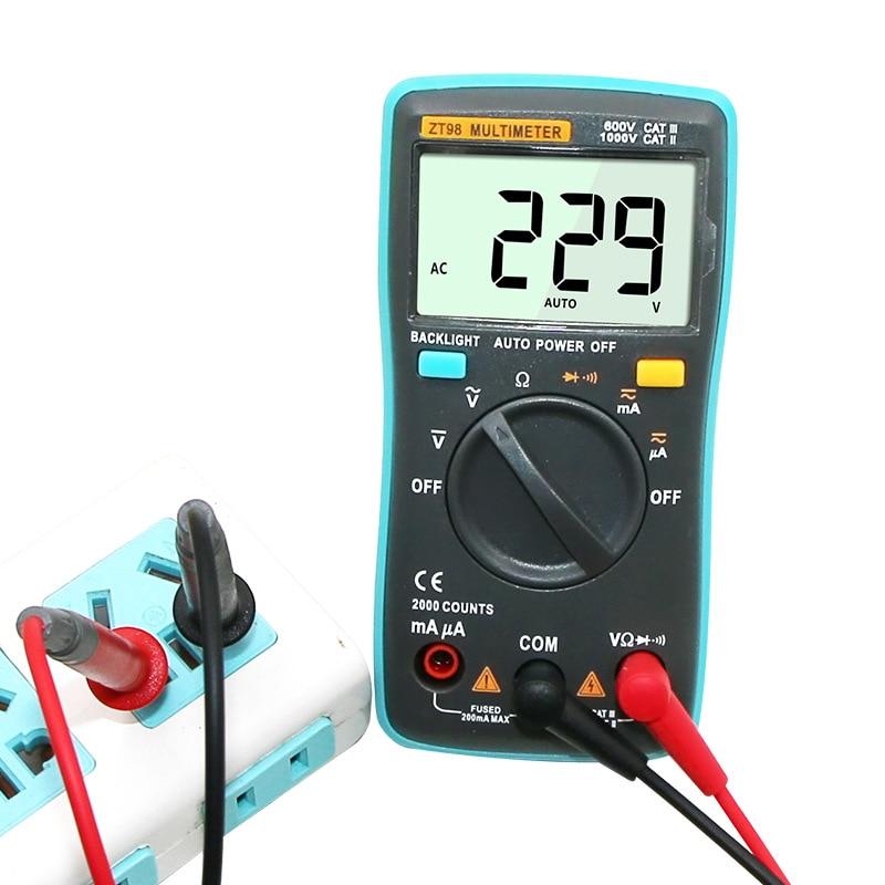 LCD Digital Multimeter Portable Handheld AC/DC Tester Voltage Meter Multitester Pocket Current Ohmmeter Meters Tester Tools