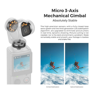 Image 3 - In stock FIMI Palm Gimbal Camera with 3 Axis Stabilizer 4K HD Handheld pocket mini smart camera  Wide Angle Smart Track osmo