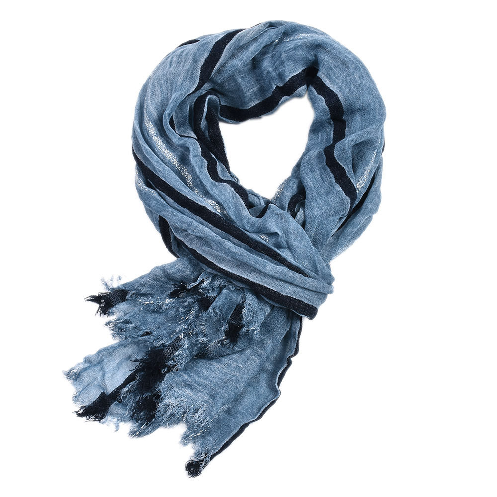 190*95cm High Quality Cotton New Style Men Retro Literature And Art Gentleman Gold Thread Yarn Dyed Stripes Scarf
