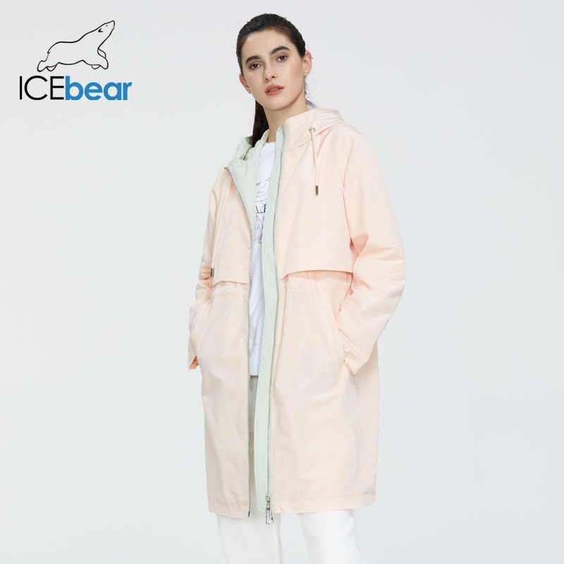 ICEbear 2020 נשים אביב מעיל גשם איכות נשים בגדי אופנה מזדמן נשים מותג מעיל רוח GWF20130I