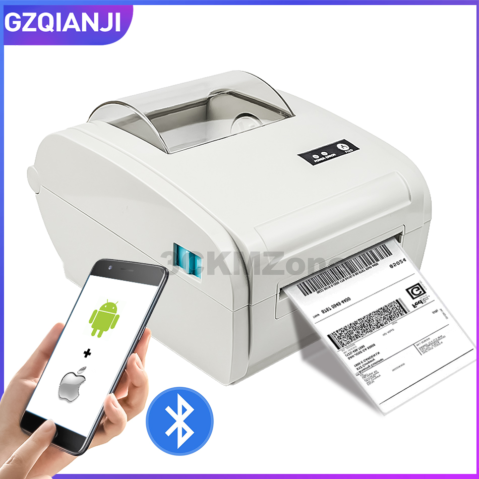 110mm Label Maker Barcode Bluetooth Thermal Printer Sticker Shipping Thermal Label Printer For Amazon Ebay Logistic