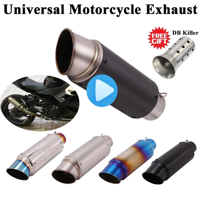Universal <font><b>Motorcycle</b></font> <font><b>SC</b></font> <font><b>Exhaust</b></font> Pipe Escape Modified GP Muffler 51mm DB Killer Silencer For Ninja 250 R15 R6 CBR1000RR S1000RR image